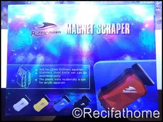 Grattoirs magnétiques S avec lame Bubble magus pour verre de 8 mm BUBBLE MAGUS
