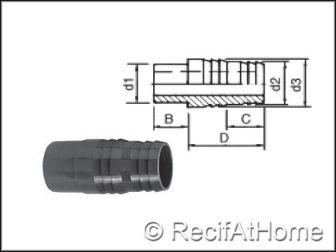 Raccord pour tuyau souple PVC HP Male a coller