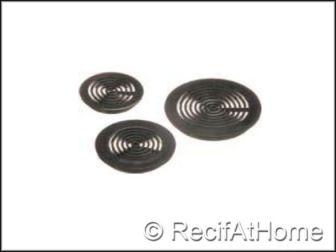 Grilles rondes PVC noir