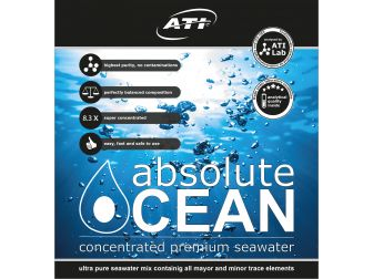 Sel liquide absolute Ocean ATI 2 x 10.20 litres pour 170 litres d'eau de mer