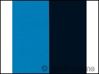 Poster prédécoupé bleu/noir 60x30cm
